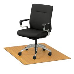 """Eco-Friendly Bamboo Wood Chair Mat - 48"""" x 42"""" x 5mm Thick"""