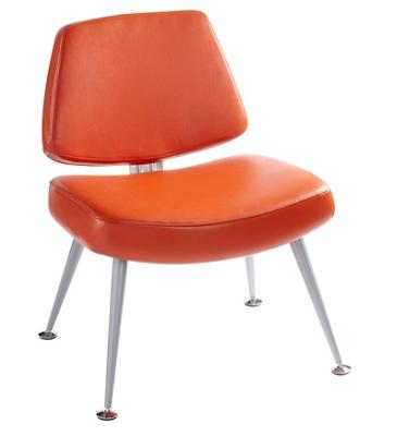 Mid Century Modern Fabric or Vinyl Lounge Chair