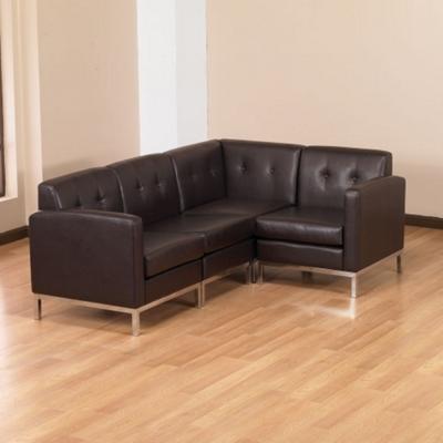 Faux Leather L-Sofa