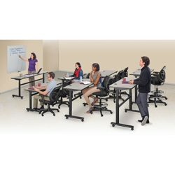 Set of 7 Adjustable Height Training Tables