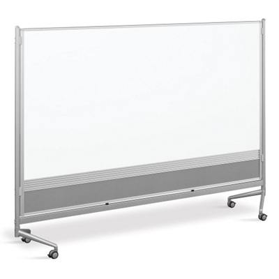 8'W x 6'H Dual Sided Mobile Whiteboard