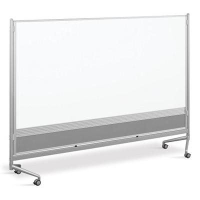 8'W x 6'H Dual Sided Mobile Whiteboard/Corkboard