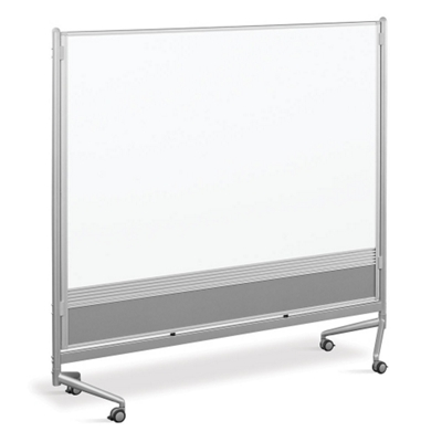 6'W x 6'H Dual Sided Mobile Whiteboard/Corkboard