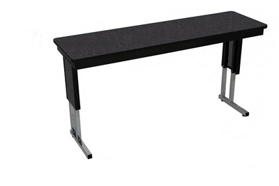 "Adjustable Height Folding Leg Seminar Table - 60"" x 24"""