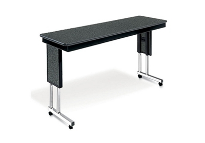 "24""W x 60""D Adjustable Height Mobile Table"