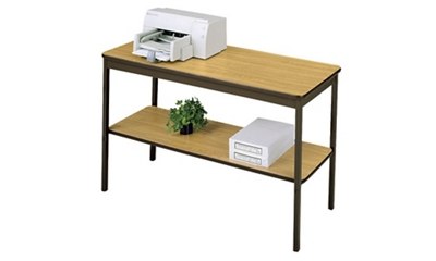 "Utility Table 18"" wide x 48"" long with Shelf"