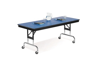 "Height Adjustable Mobile Folding Table- 30""Wx96""D"