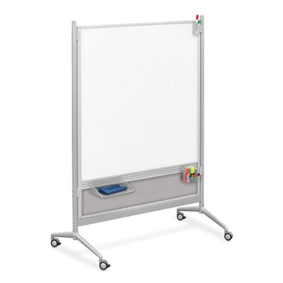 6 ft x 4 ft Glass Mobile Dry Erase Board