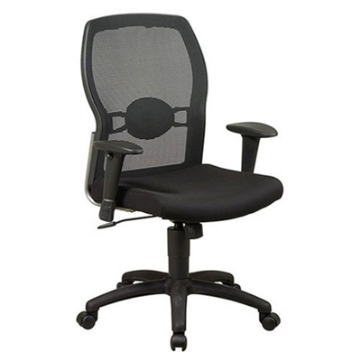 Mesh Back Executive Chair with Fabric Seat