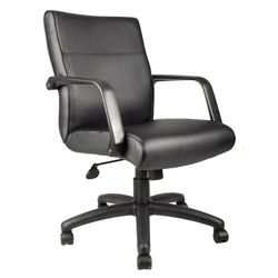 Mid-Back Bonded Leather Conference Chair