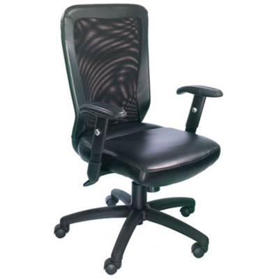 Bonded Leather and Mesh Computer Chair