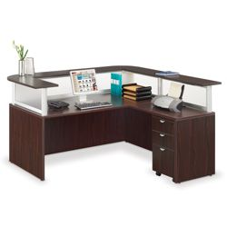 Reception L Desk with Pedestal