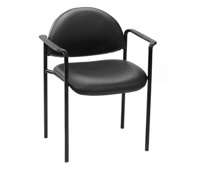 Vinyl Stack Chair with Arms