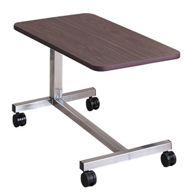 Low Height Overbed Table with H-Base