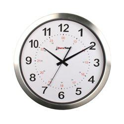 "Callisto 15"" Aluminum Synchronized Clock"