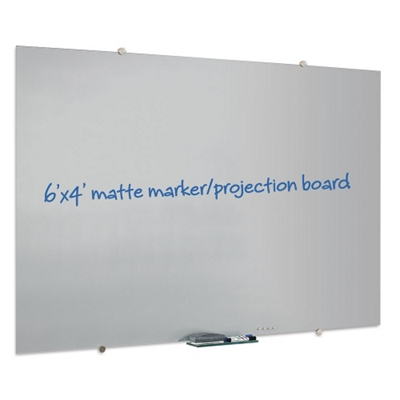 6' x 4' Matte Glass Marker Board