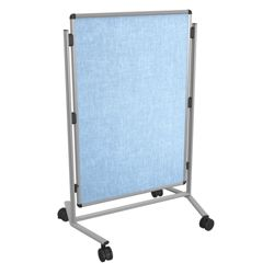 Vinyl Surface Adjustable Height Mobile Bulletin Board