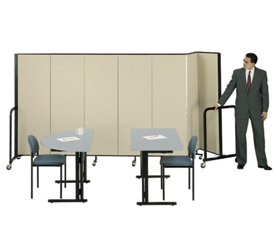"7' 4"" High Room Dividers Set Of 5"