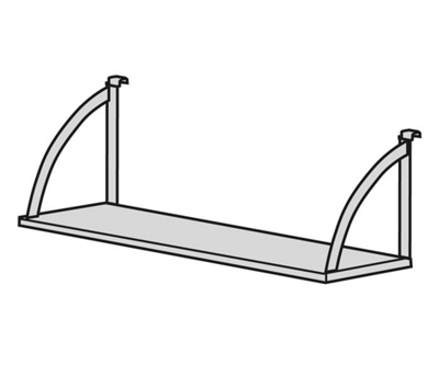"Open Hanging Steel Shelf - 48""W"