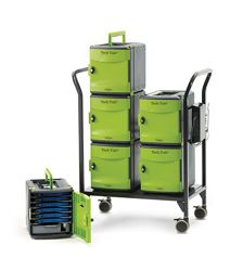 Tech Tub2 Cart with Storage and Charging Tubs for 32 Devices