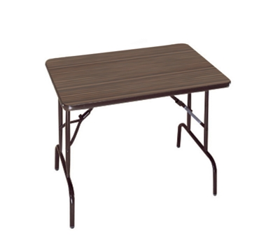 "Compact Folding Table with Casters - 36"" x 24"""