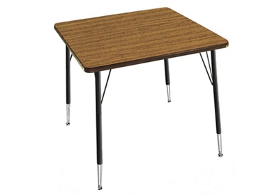 """Adjustable Height Square Activity Table 36"""" Long"""