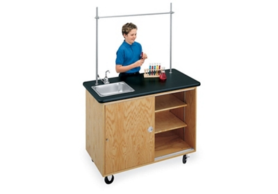 Mobile Biology Lab Demonstration Table with Sink
