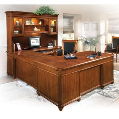 U-Desk with Right Bridge and Hutch