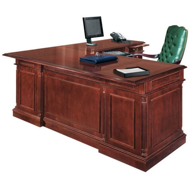 English Cherry Executive L-Desk with Right Return