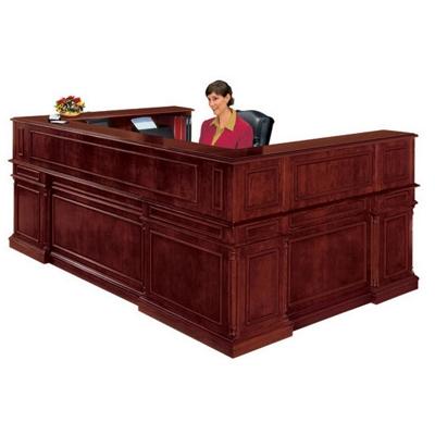 Traditional Reception U-Desk with Right Return