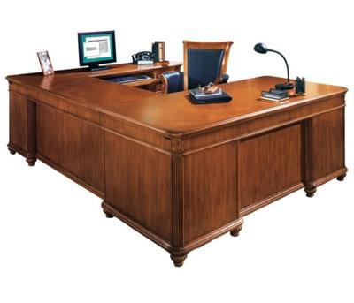 Executive U-Desk with Right Bridge