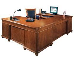 Executive U Desk with Left Bridge