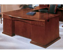 Bow Front U-Shape Desk with Right Return