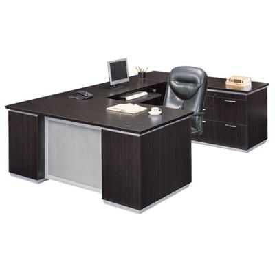 Executive U Desk with Right Bridge - Ready to Assemble