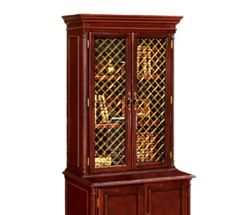 Traditional Hutch With Mesh Doors