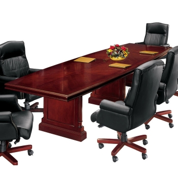 English Cherry Traditional Boat Shape Conference Table X - Traditional conference table