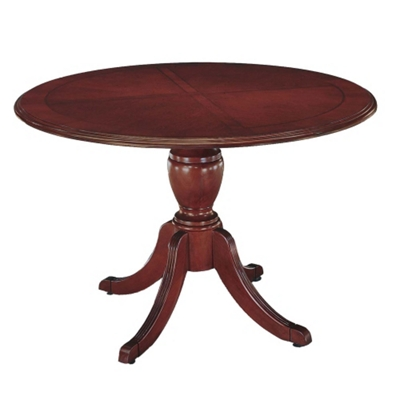 """English Cherry Traditional Round Conference Table - 48"""" Diameter"""