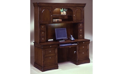Kneehole Credenza with Hutch