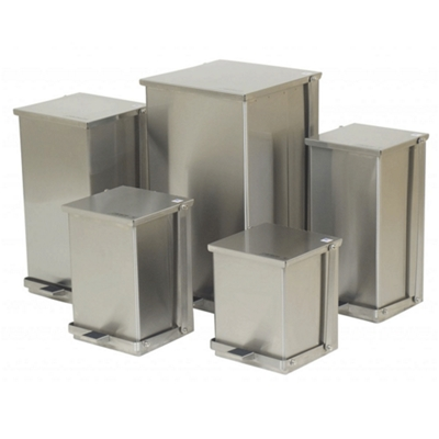 Stainless Steel 8-Gallon Step-On Trash Can
