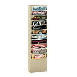Wallmount Literature Rack with 11 Magazine Pockets
