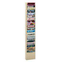 Wallmount Literature Rack with 20 Magazine Pockets