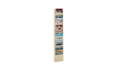 Steel Wall Literature Rack 20 Extra Large Pockets