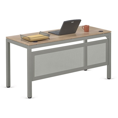 """At Work 60""""W x 24""""D Table Desk with Modesty Panel"""