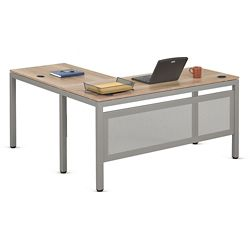 """At Work 60""""W x 60""""D Reversible Compact L-Desk"""