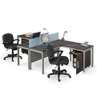 At Work Two Person Complete Compact Office By Nbf Signature Series