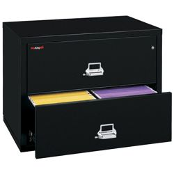 "Two Drawer Fireproof Lateral File - 38""W"