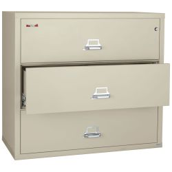 "Three Drawer Fireproof Lateral File - 38""W"
