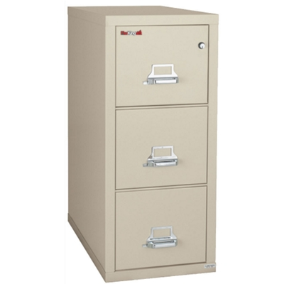 "Three Drawer Fireproof Legal Size Vertical File - 31""D"