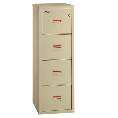 "Compact Four Drawer Vertical Fireproof File - 22""D"