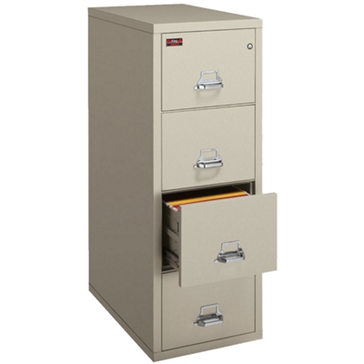 Two-Hour Rated Fireproof Four Drawer Vertical Letter File